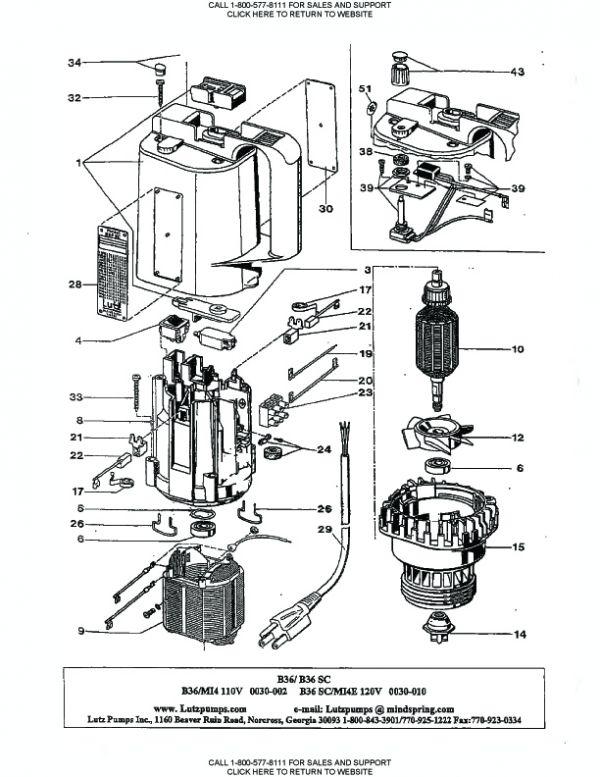 0030 000 Lutz Drum Pump Motor