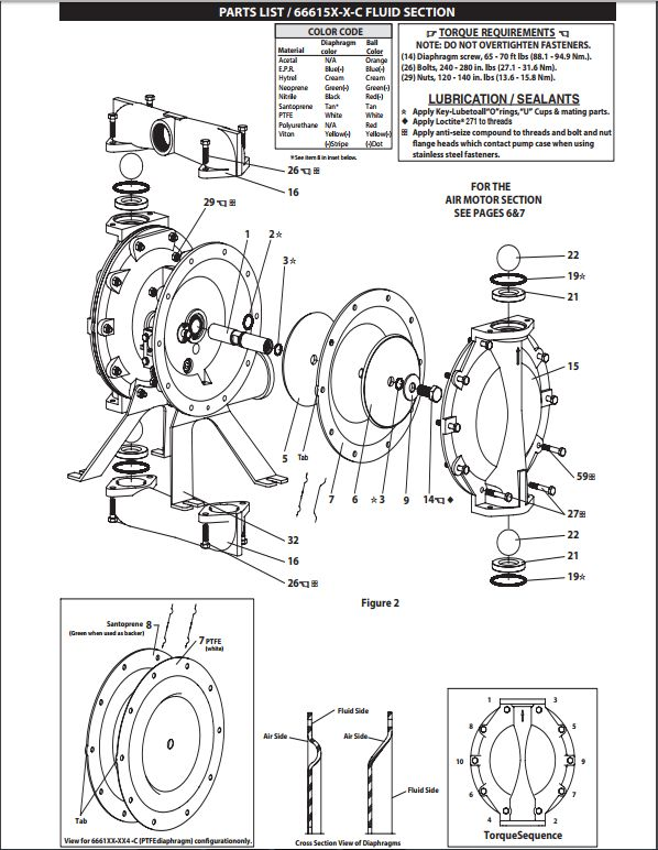 Aro 666150 362 c 1 12 metallic pro diaphragm pump section fluid section ccuart Image collections